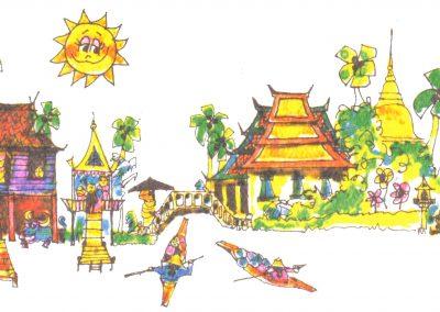 Thai-Banner-dorf